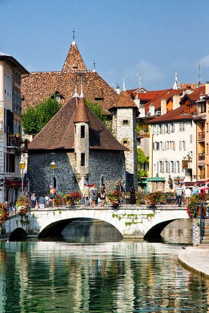 Annecy, France. BTDT it's a gorgeous town with a glacial water stream and a gorgeous lake.