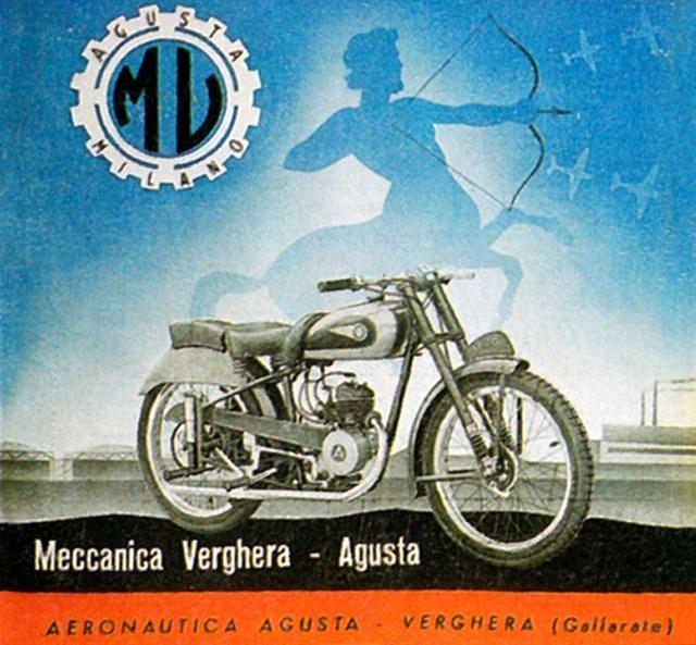 1947 MV Agusta shooting straight by bullittmcqueen, via Flickr