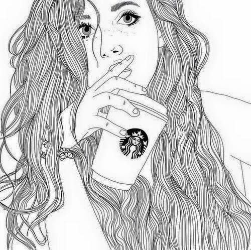 Imagen de outline, starbucks, and drawing