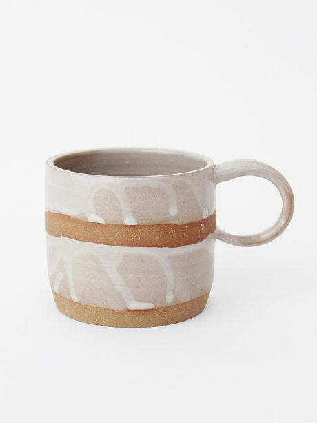For Home | Double White Camp Mug by Helen Levi