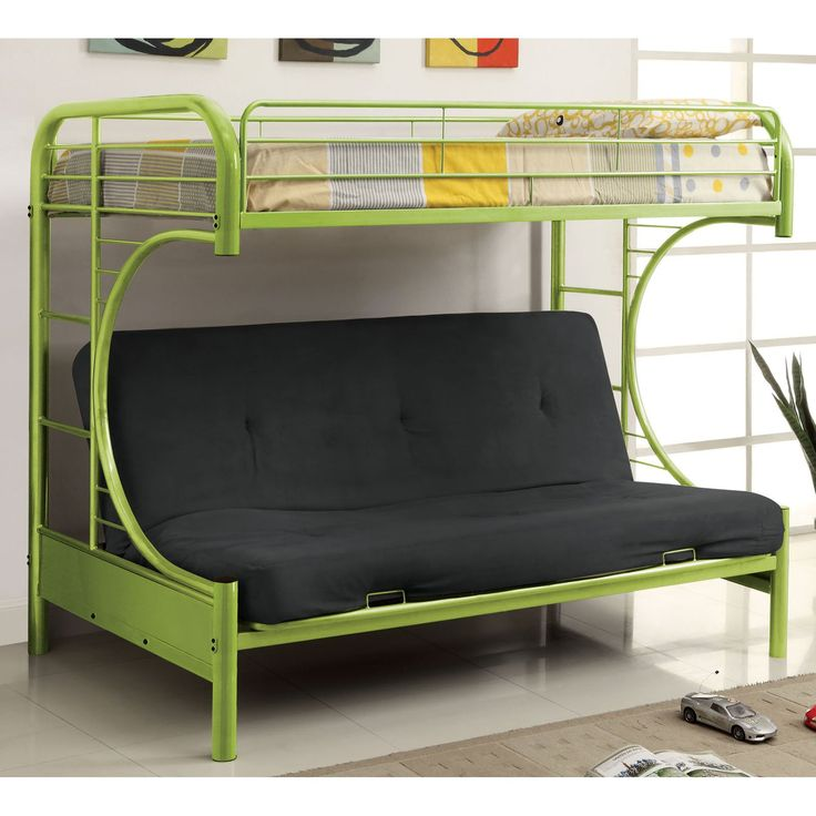 Ravens Contemporary Twin over Futon Bunk Bed | from hayneedle.com