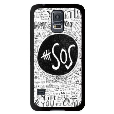 5SOS Music Band Lovely Pattern Hard Back Case Cover for Samsung Galaxy S5 i9600