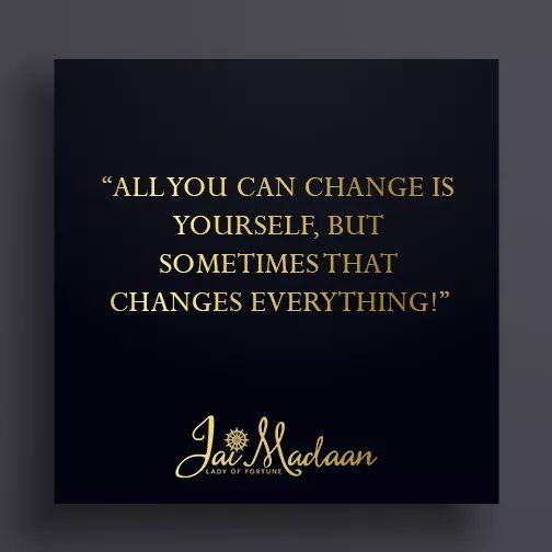 All you can change is yourself but sometimes that changes everything! #QOTD #Inspiration https://t.co/FBBkfrk9J8