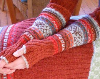 knitting pattern, gauntlets - fingerless gloves