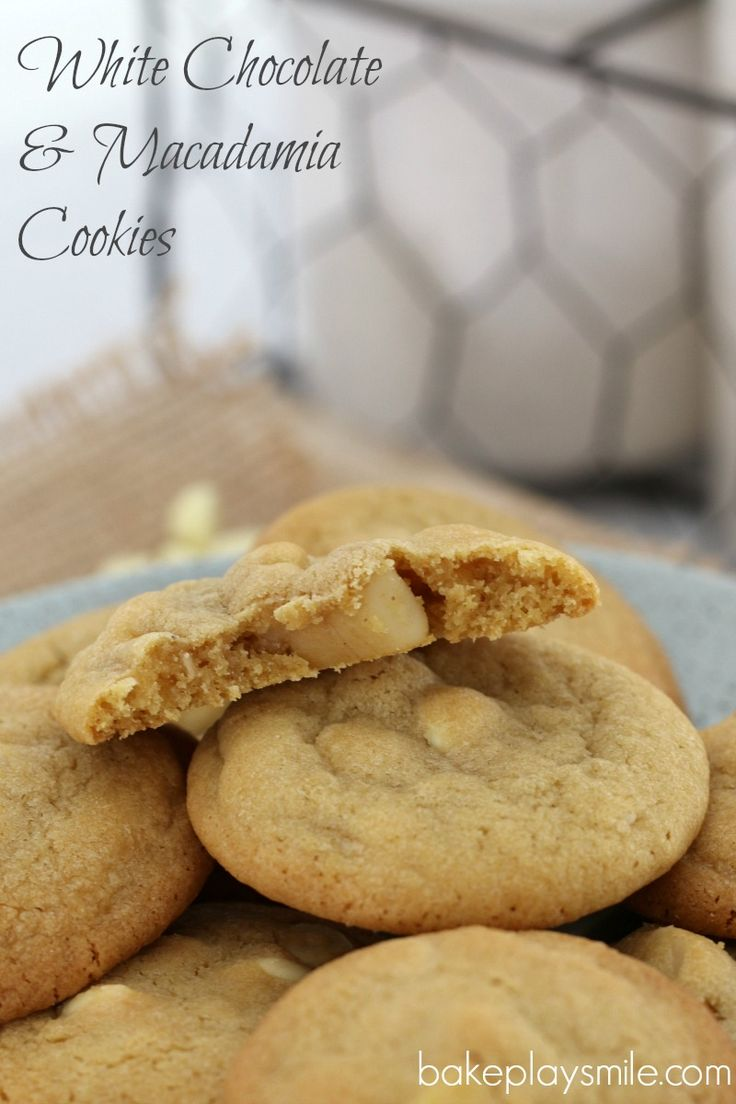 White Chocolate & Macadamia Cookies  Wait until you try these classic White Chocolate & Macadamia Cookies… they're totally irresistible! Try stopping at just one (it's impossible!!).   #white #chocolate #macadamia #cookies #biscuits #easy #recipe #thermomix #conventional  http://bakeplaysmile.com/white-chocolate-macadamia-cookies/