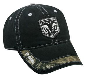 NWT Dodge RAM Black Embroidered Mossy Oak Camo Cap Hat | eBay