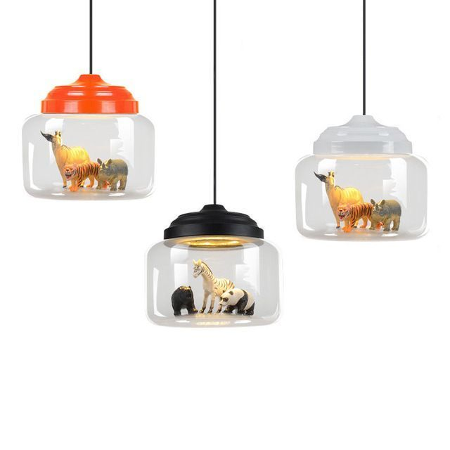 Creative Pendant Lights Glass Built In A Variety Of Small Animals