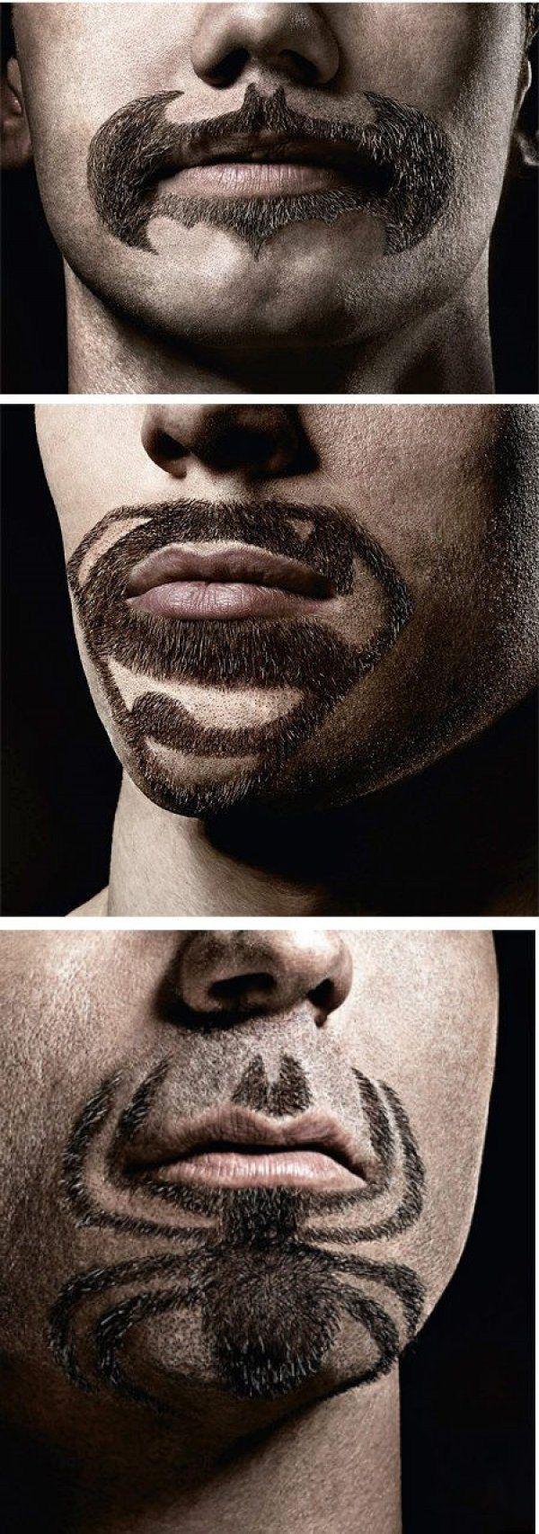 Superhero Beards/Mustaches