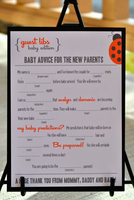 Mad Libs for the baby party!: Editing Ladybugs, Games Showeridea, Hello Kitty Babyshower Ideas, Hello Kitty Baby Shower Games, Chasity Babyshower, Babyshower Karol, Hello Kitty Baby Shower Ideas, Shower Editing, Libs Baby