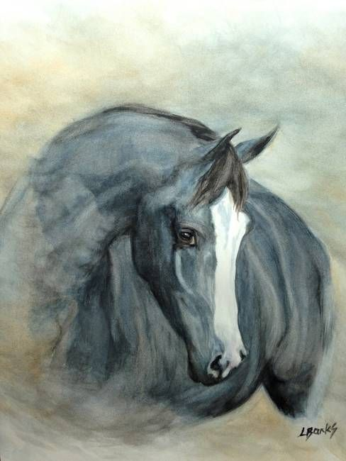 "#Horse Artwork ""Grace"" by Lyn Banks - http://dunway.us"
