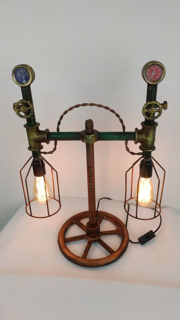 details zu steampunk style tischlampe schreibtisc design. Black Bedroom Furniture Sets. Home Design Ideas