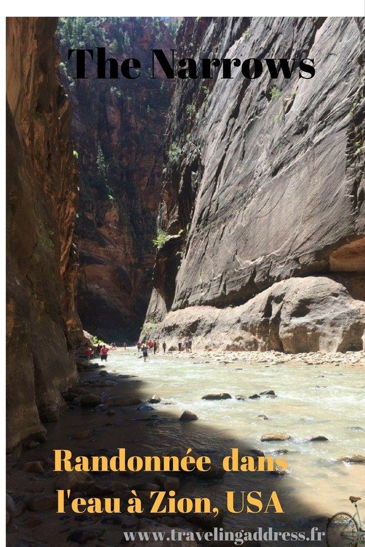 Randonnée The Narrows : les pieds dans l'eau - Travelingaddress