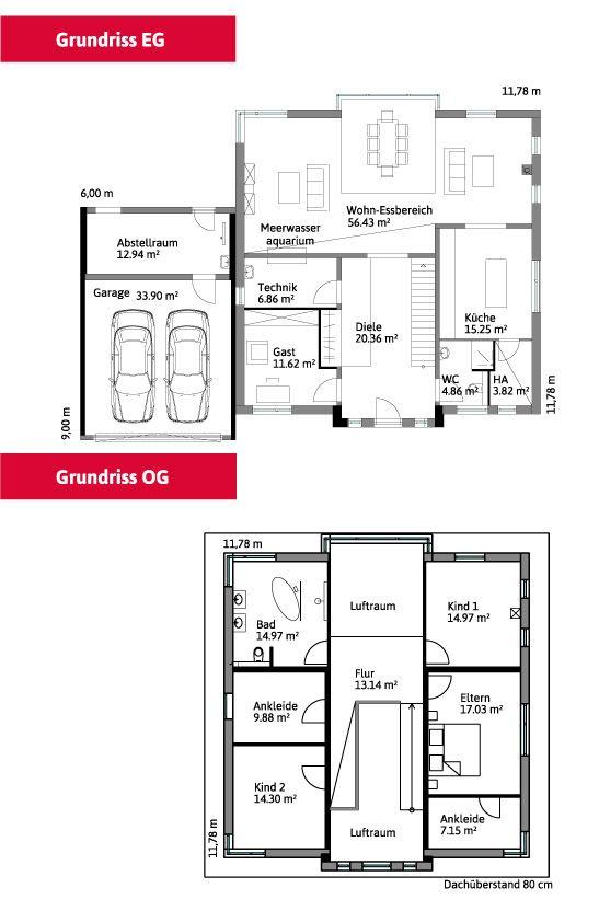 Moderne architektur grundrisse  184 besten Grundriss Bilder auf Pinterest | Grundrisse, Hausbau ...