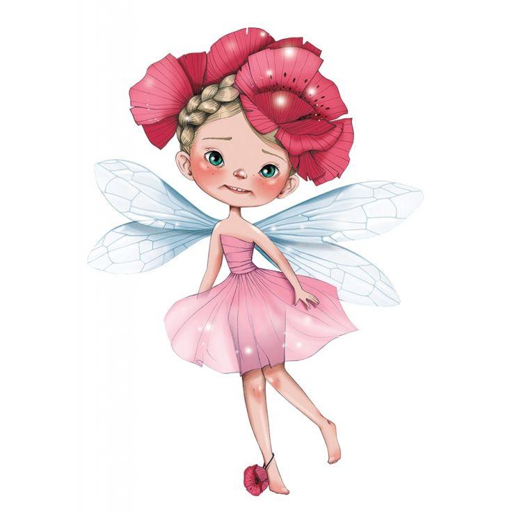 Sticker Petite fée Isodorine pour la décoration d'une chambre de fille
