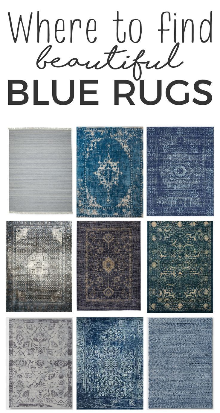 Where to find inexpensive blue area rugs