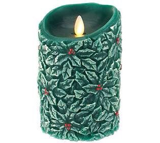 A Christmas Luminara candle from QVC US