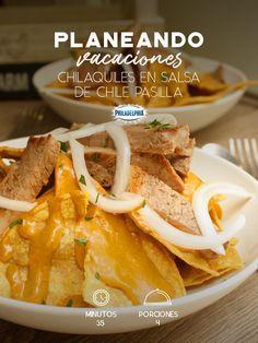 Consiéntete con unos Chilaquiles en salsa de chile pasilla mientras planeas lo que harás en estas vacaciones. #recetas #receta #quesophiladelphia #philadelphia #crema #quesocrema #queso #chilaquiles #desayuno #almuerzo #comida #chile #chilepasilla #salsa #picante #cocinar #recetasfáciles #comidamexicana.