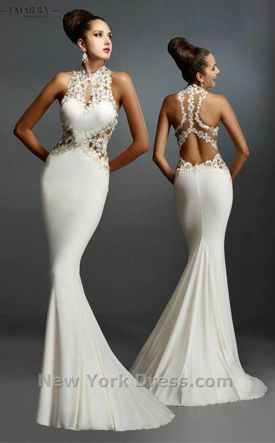Rr006 blanco / negro / rojo largo sirena vestidos de noche Sexy cuello alto sin respaldo apliques Formal elegante vestido de fiesta