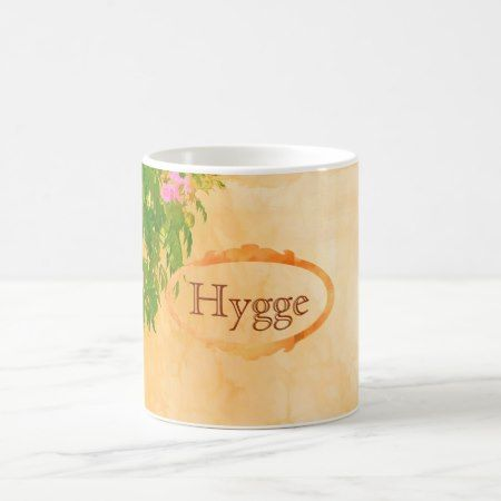 Hygge pink roses on sunny garden wall coffee mug - tap to personalize and get yours
