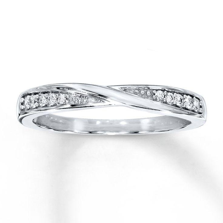Kay - Diamond Wedding Band 1/15 ct tw Round-cut 10K White Gold
