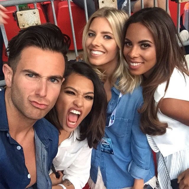 Aaron Renfree, Mollie King, Rochelle Humes and Vanessa White