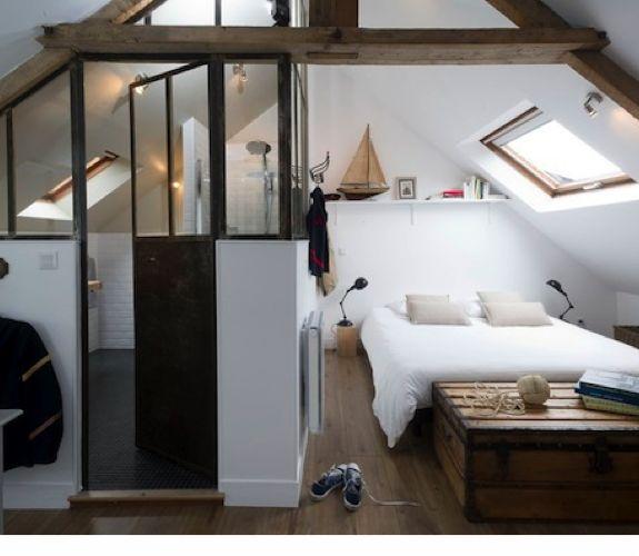 Fijne zolder met slaapkamer en badkamer