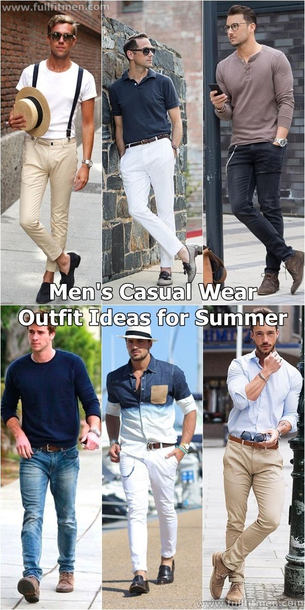 Casual wear for men, Casual