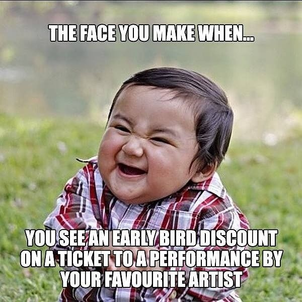 Early Bird tickets to be out soon. Watch this space, #Dubai! This #November is going to be #Epic.