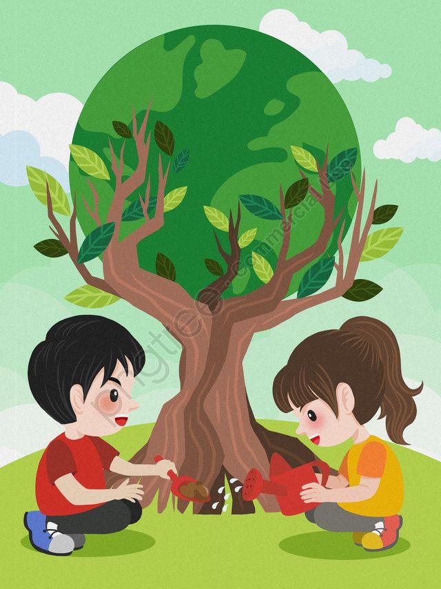 Ilustracion De Plantacion Arboles Ambiente Ecologico Protegido Dibujos Animados Proteger El Medio Ambiente Ilustracion Ecologica De Proteccion Cuidando El M Plant Illustration Peace Drawing Trees To Plant