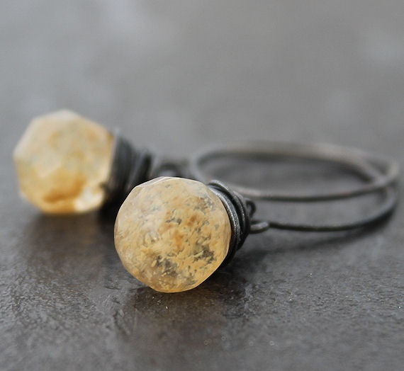 Rutilated Quartz with Oxidiced Sterling silver.