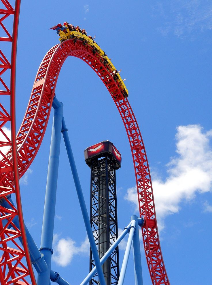 The Superman rollercoaster... total adrenalin rush! MovieWorld, Gold Coast Australia