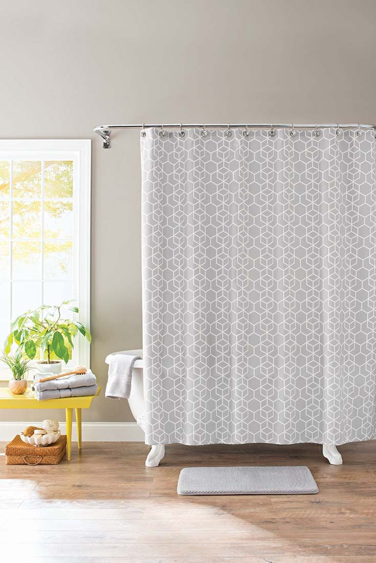 Chevron bathroom sets with shower curtain and rugs - Better Homes And Gardens Hexagon Trellis 13 Piece Bath Set Shower Curtain And Bath Rug Included