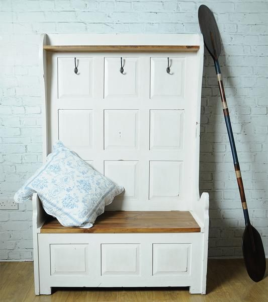 Made from select timbers and available in several different colour options this monks bench makes a superb entrace hall storage unit and hall seat. H: 170, W...