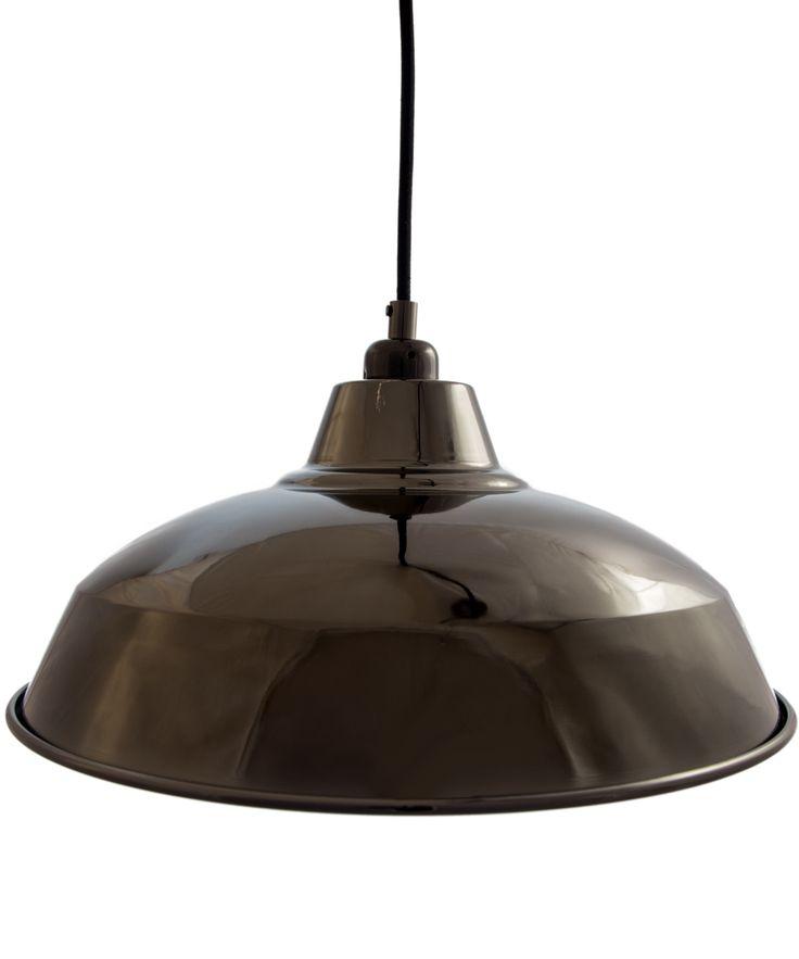cuemars glossy black industrial lamp shade - Metal Lamp Shades