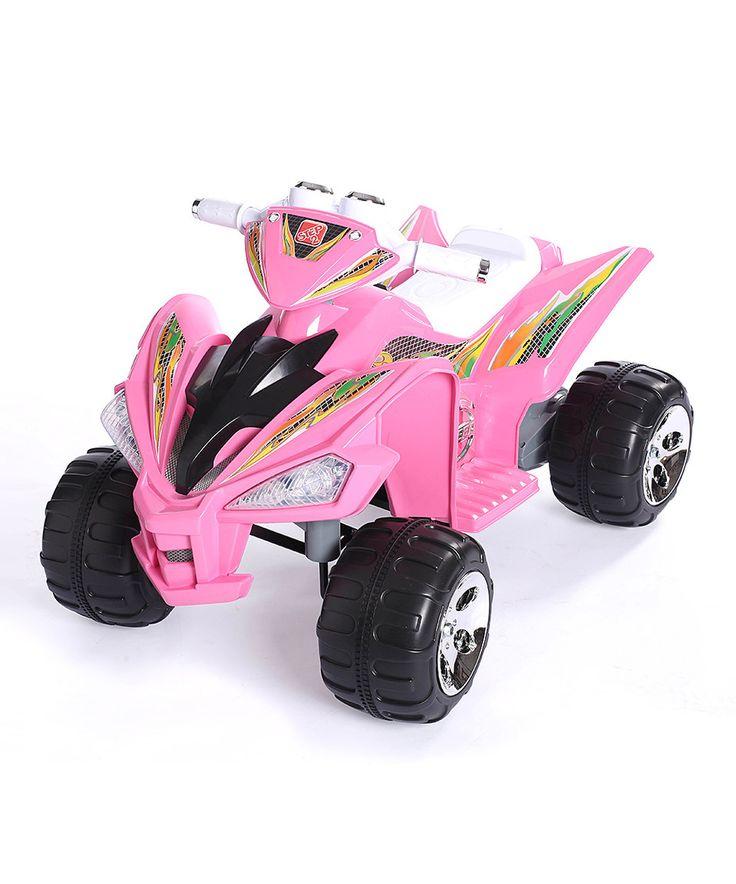 Look at this #zulilyfind! Pink Ride-On Super Quad by True Timber #zulilyfinds