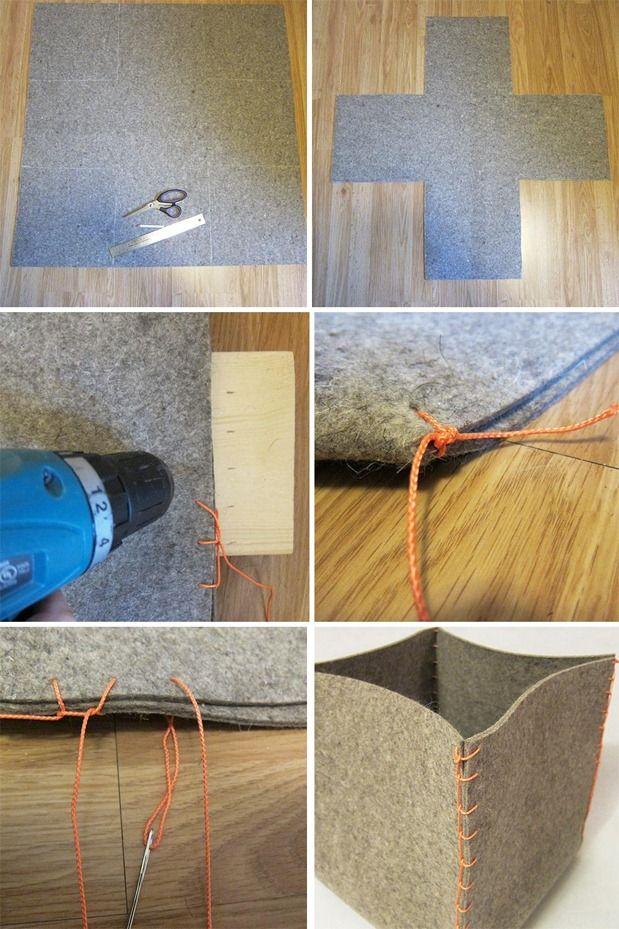 DIY: Felt Storage Box | Blog | HGTV Canada by Renee Elliott of Re: Creative