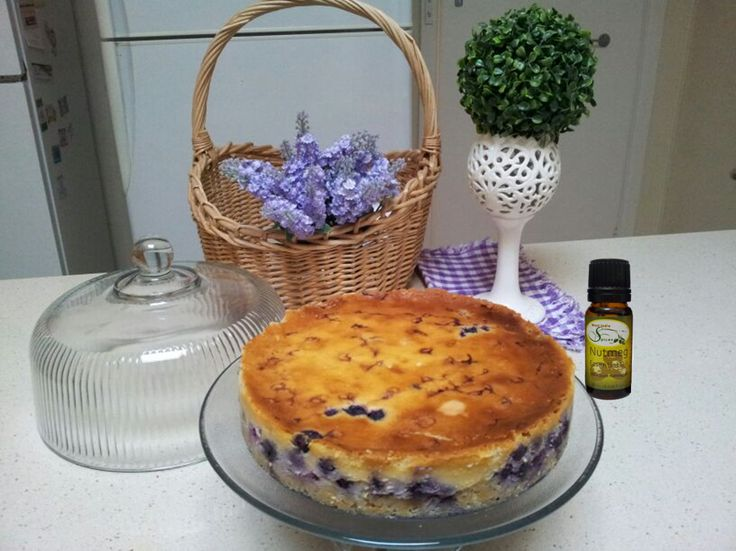 Homemade blueberry nutmeg cake, made in Australia using our Nutmeg ...