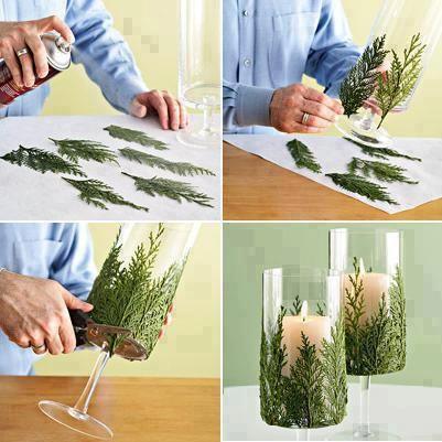 vidro com folhas