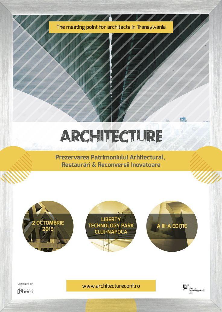 Architecture este cunoscută ca fiind cea mai importantă platformă de întâlnire din Transilvania pentru arhitecți și specialiști din domenii conexe. Conference&Expo is the meeting point in Transylvania for over 200 architects, engineers, constructors and designers who want to emphasize the quality and excellence in domains such as architecture, construction and urbanism.