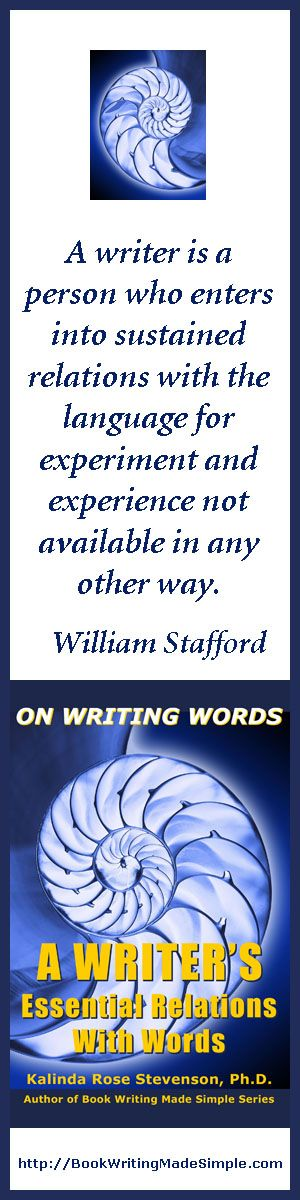 william stafford essay a way of writing would be considered It is now widely considered that the exclusive use of male pronouns to refer to both sexes is unacceptable there are a number of strategies that can be used to negotiate this matter  this essay is an adaptation of megumi unno,  write to learn (cbs college publishing, 1984) and william stafford, a way of writing, field 2,.