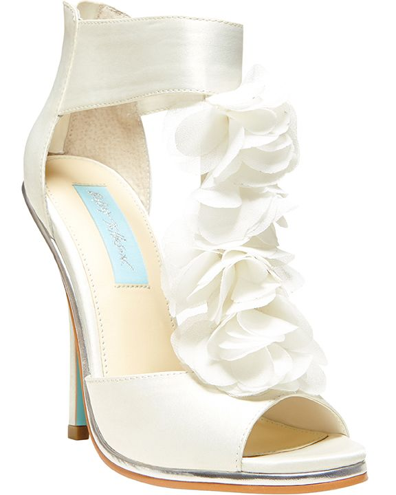 Blue by Betsey Johnson 'Bloom' sandal in ivory (betseyjohnson.com)