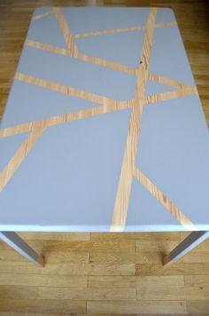 DIY : J'ai fait de ma vieille table de cuisine, une table design !