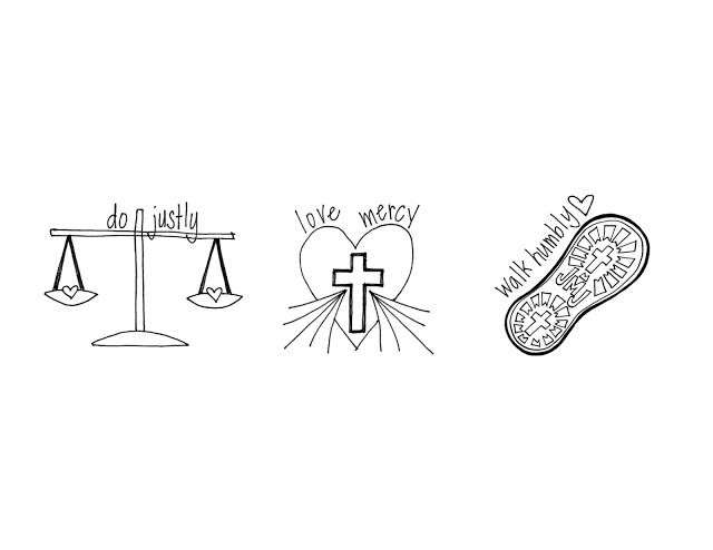 do justly, love mercy, walk humbly ~micah 6:8 free coloring page for