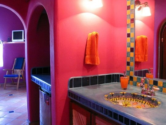 Colorful Bathroom - mexican style