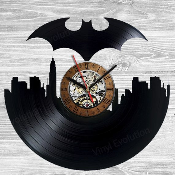 Hey, I found this really awesome Etsy listing at https://www.etsy.com/listing/236729776/batman-vinyl-wall-clock-handmade-not