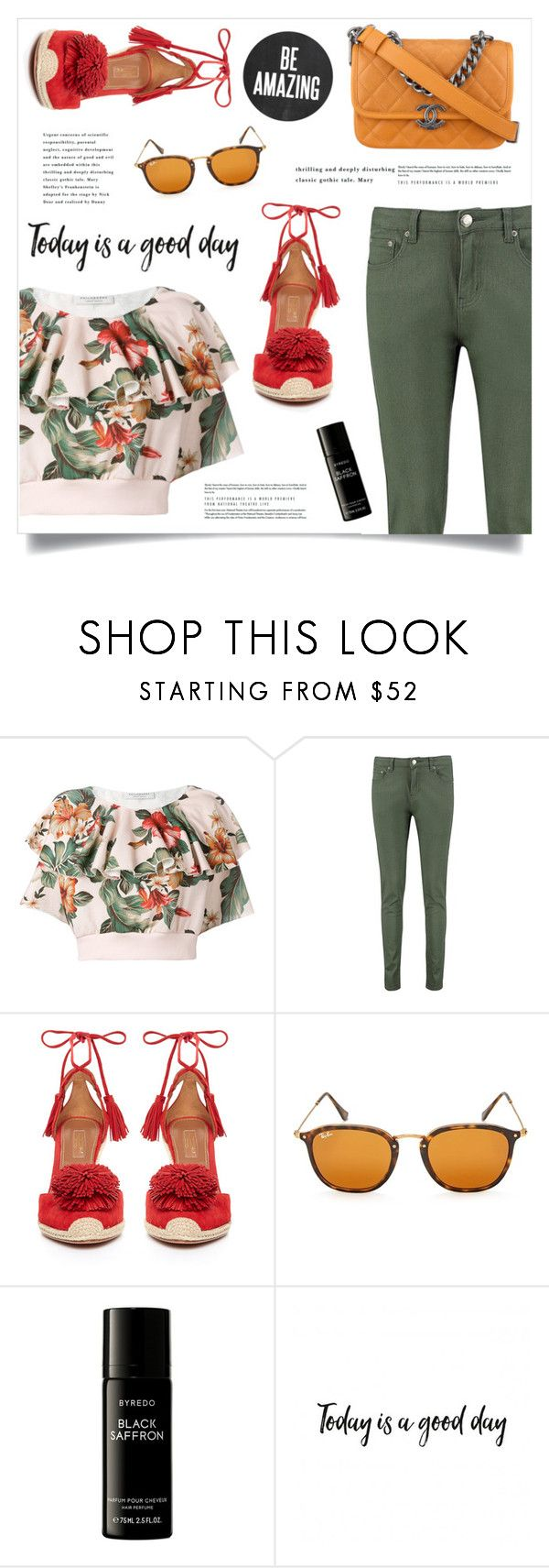 """Be Amazing Every Day"" by marina-volaric ❤ liked on Polyvore featuring Philosophy di Lorenzo Serafini, Chanel, Boohoo, Aquazzura, Ray-Ban and Liberty"