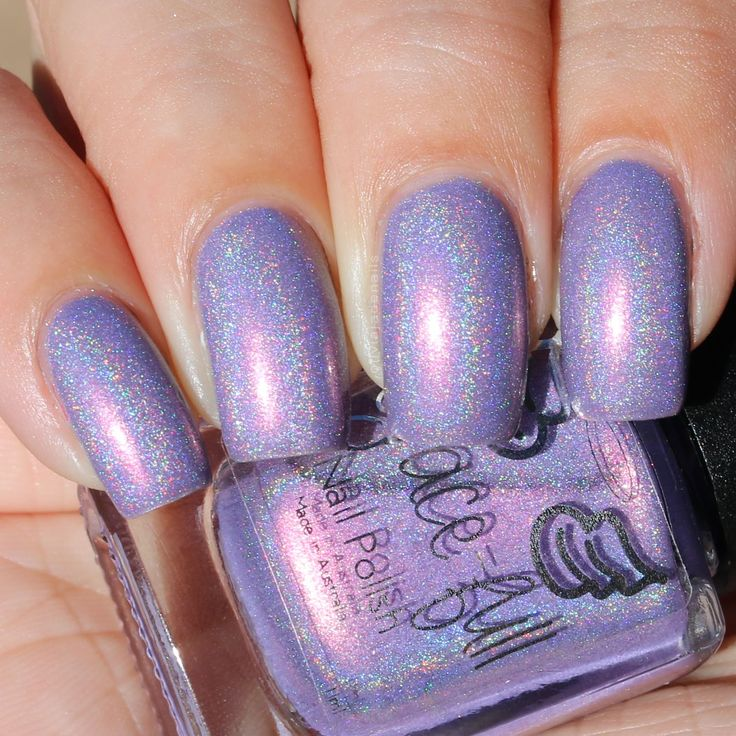 Grace-full Nail Polish Lilac Ice swatched by Olivia Jade Nails