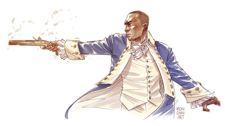 """Hamilton fan art sketch! The damn fool that shot him."" (Hamilton - Aaron Burr"""