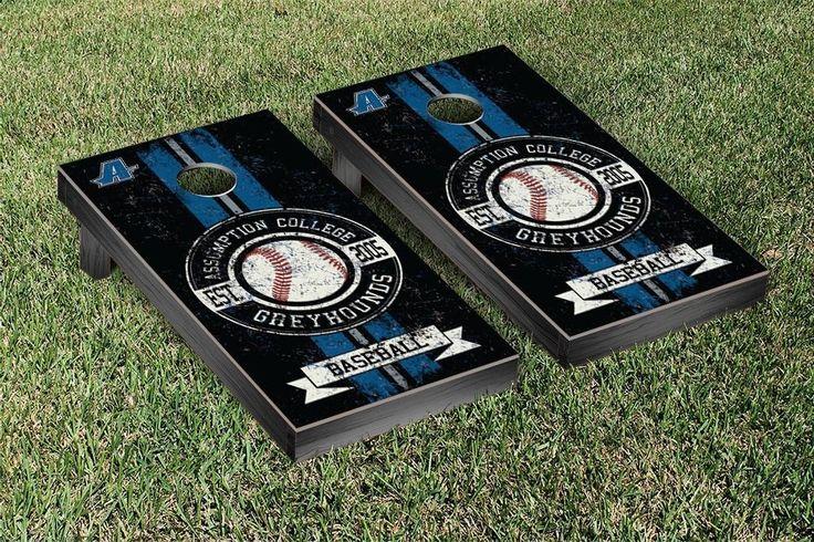 Cornhole Game Set - Assumption College Greyhounds Baseball Vintage Version - 34303