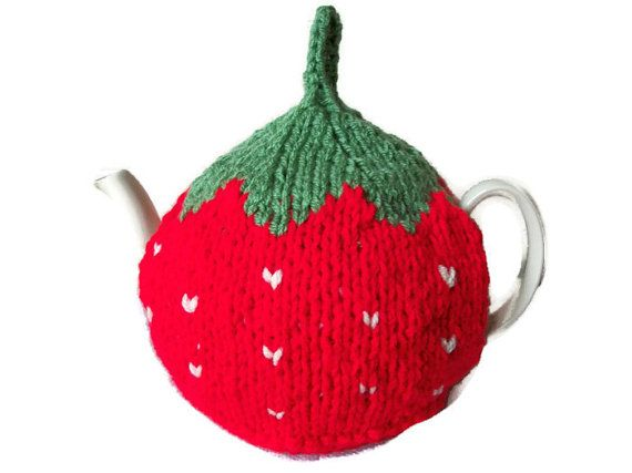 Strawberry Tea Cosy Hand Knitted, £14.99